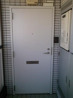 マンションスチール玄関ドア カバー工法