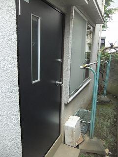 防犯ガラス及び勝手口ドア交換工事