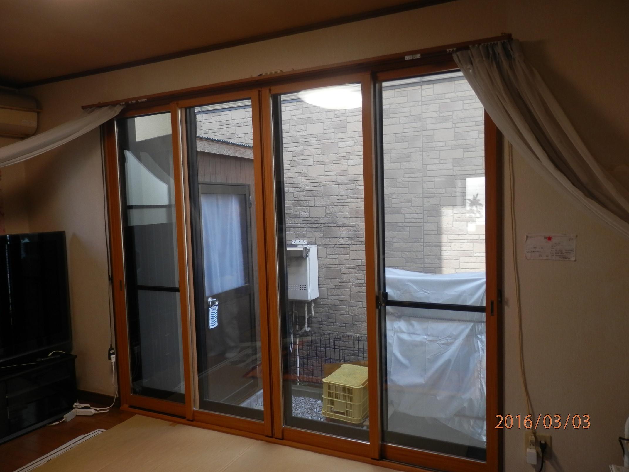 高機能ペアガラス入の内窓設置で冷気もKO!