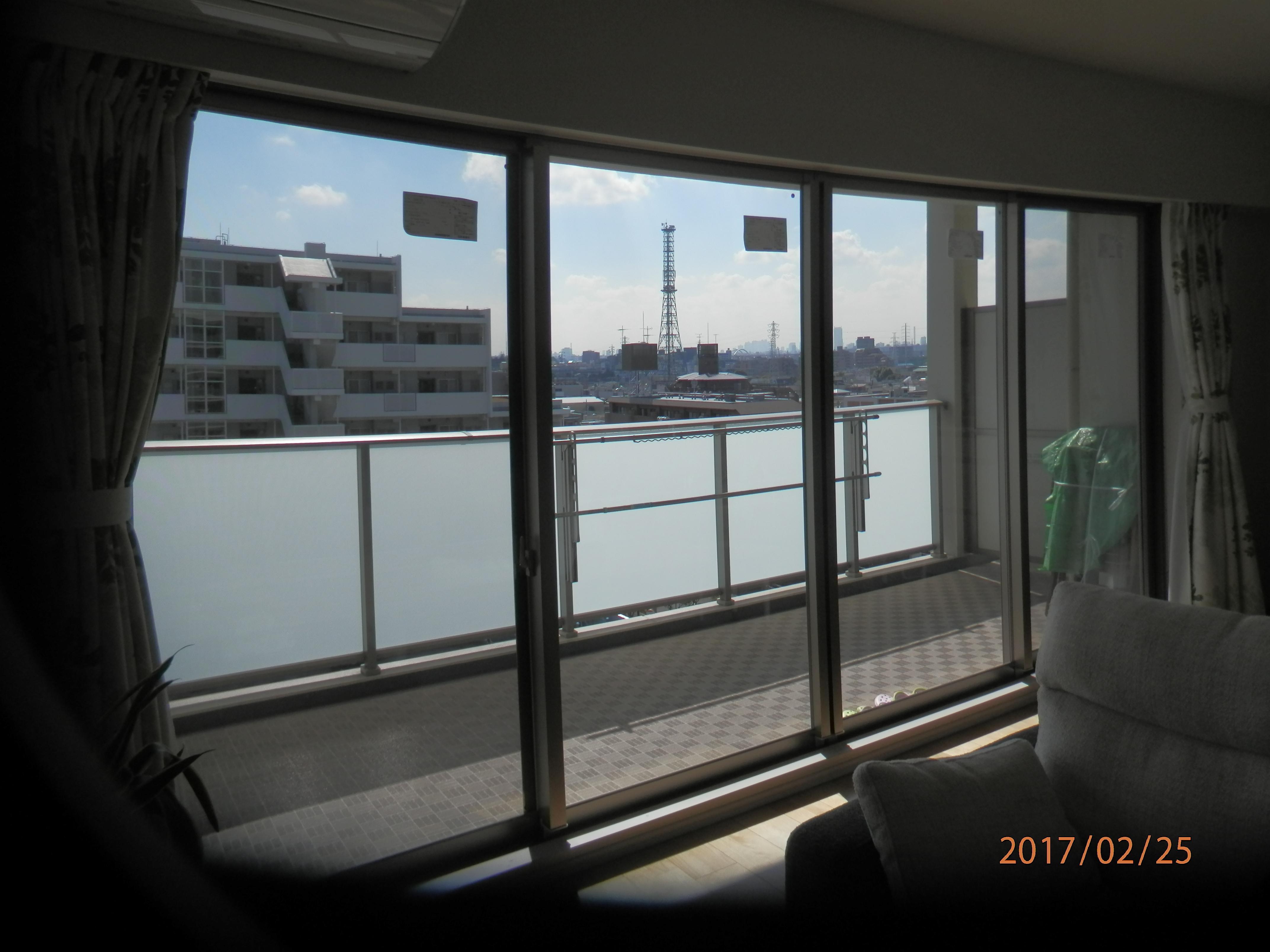 大きいテラス窓の結露も高機能ガラスで解決!