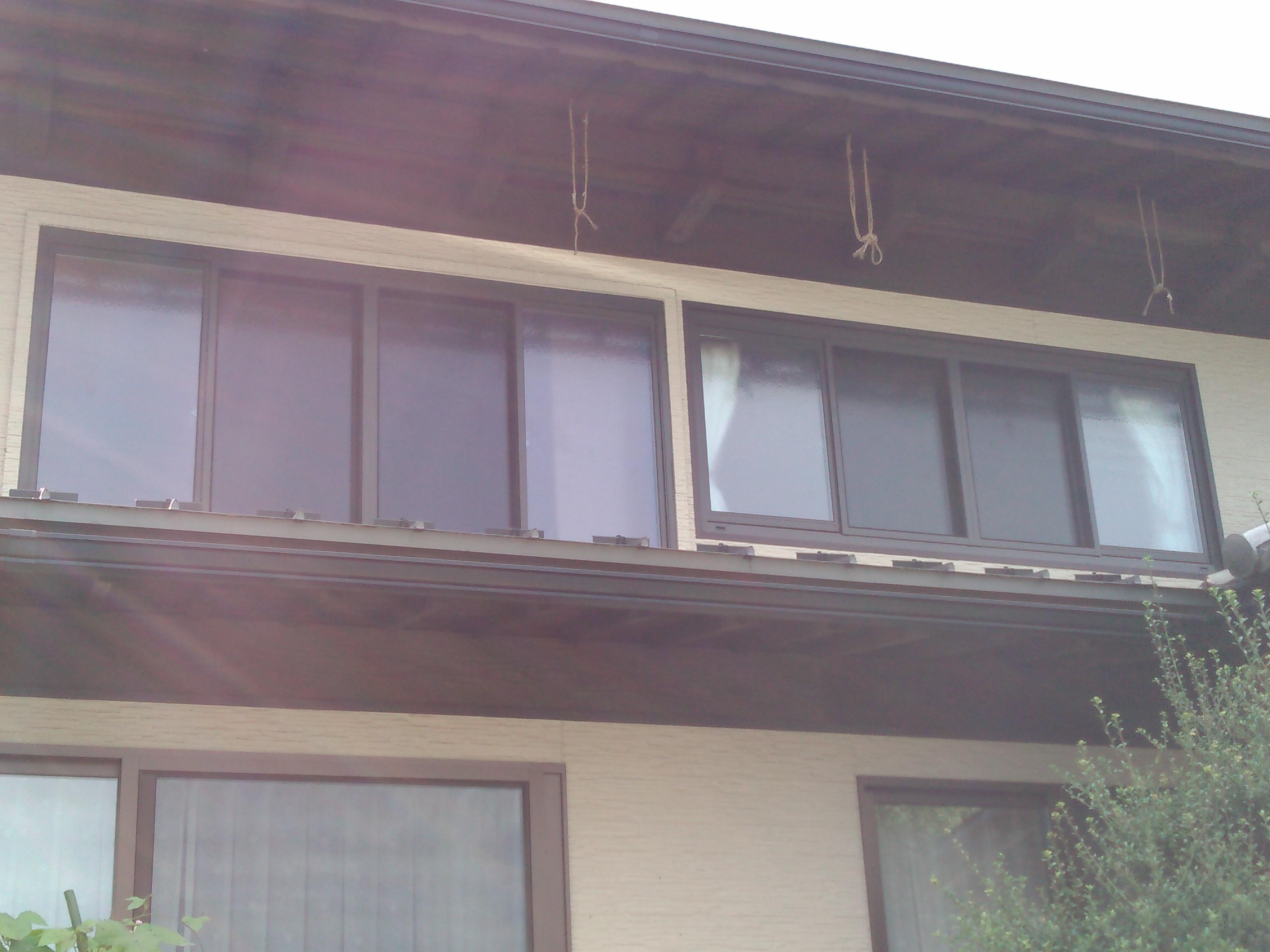 工事前 2階の大きな窓をリフォームします