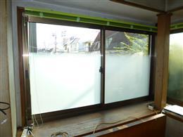 窓サッシをカバー工法にて交換、LowEペアで遮熱、断熱…