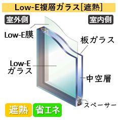 Low-E複層ガラス[遮熱]