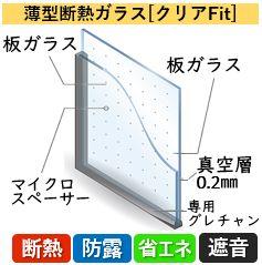 薄型断熱ガラス[クリアFit]