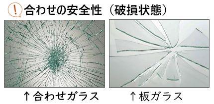 合わせガラス破損状態