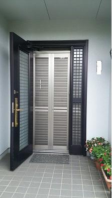 ドア用網戸取付施工