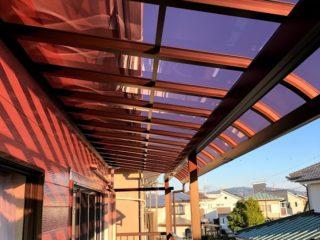 YKK AP テラス屋根施工