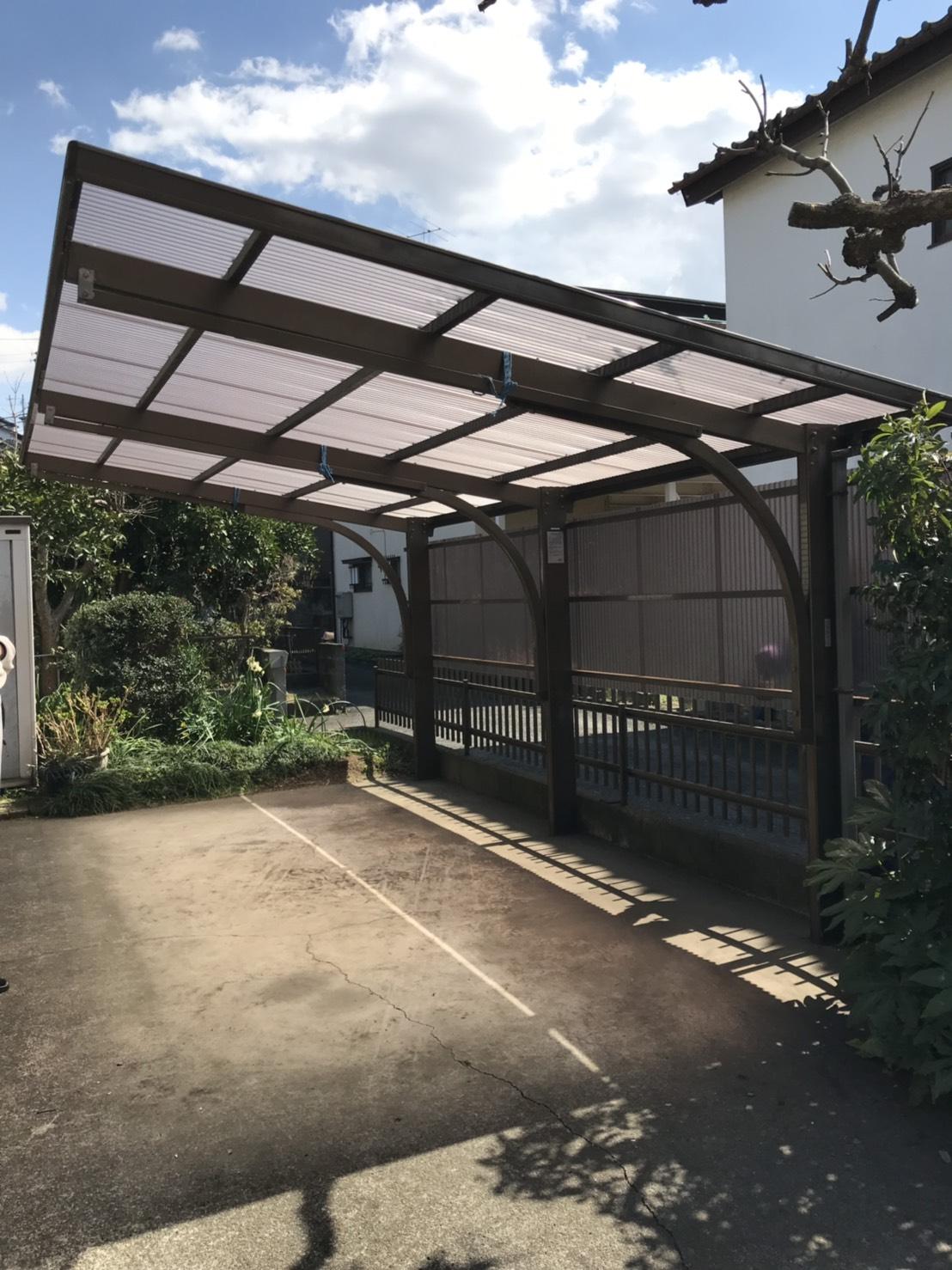カーポート屋根・側面ポリカ貼り替え