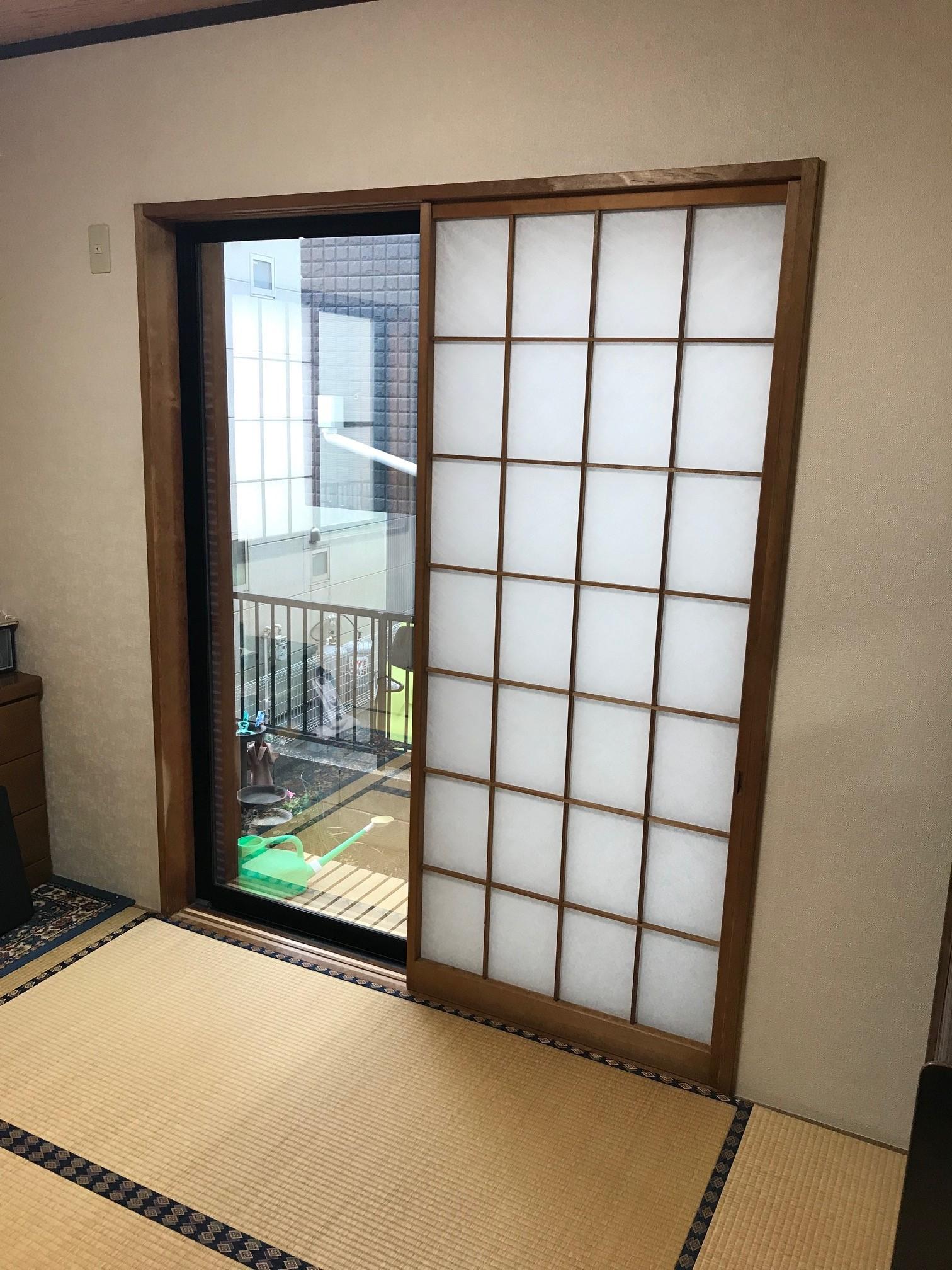 和室はきだし窓施工前
