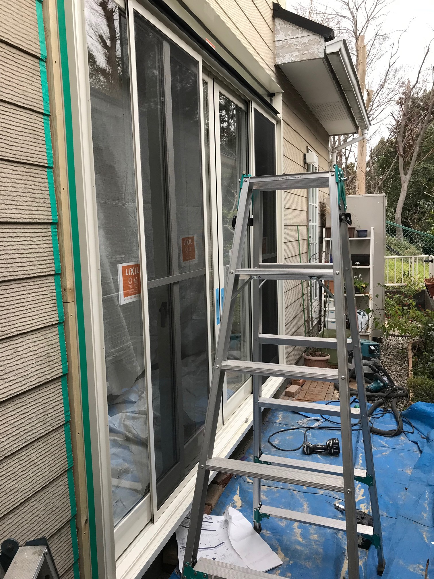 台風被害「サッシ交換」施工が完成しました。