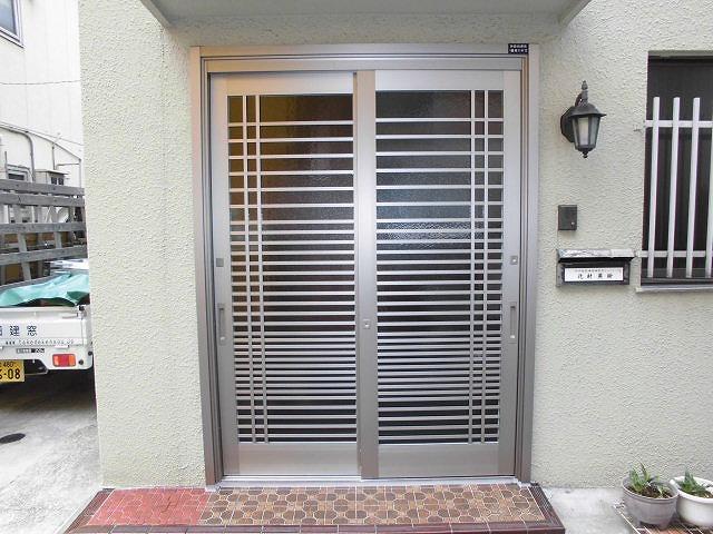玄関引き戸カバー工法