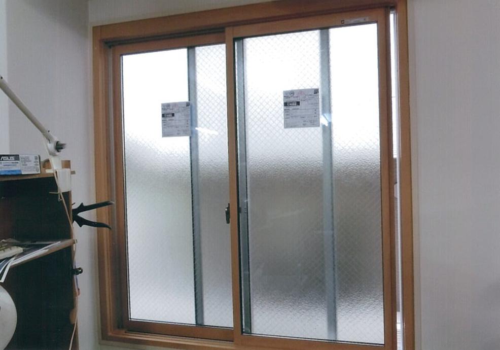 台風のため内窓取付工事