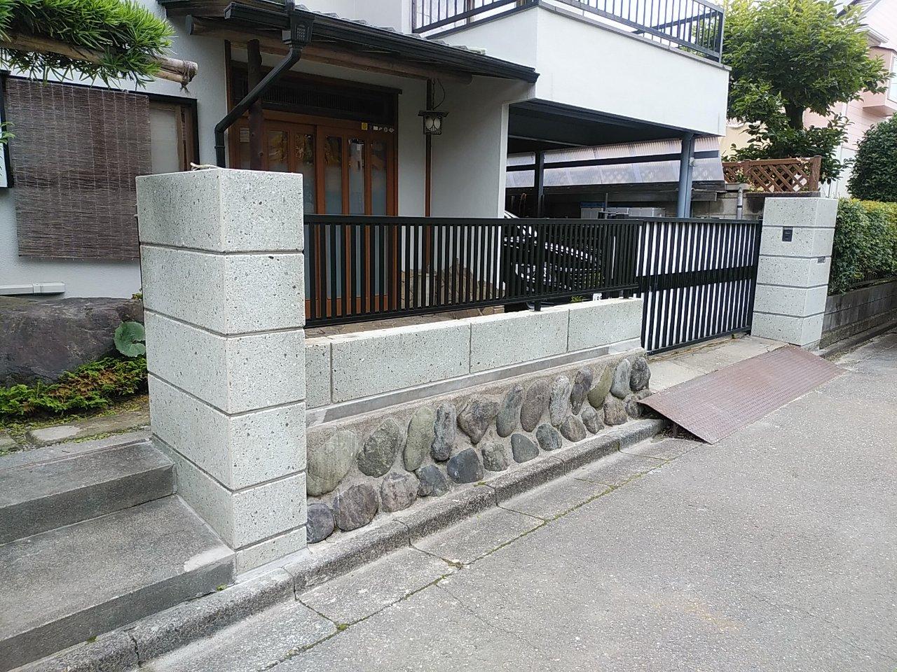 フェンスの交換工事