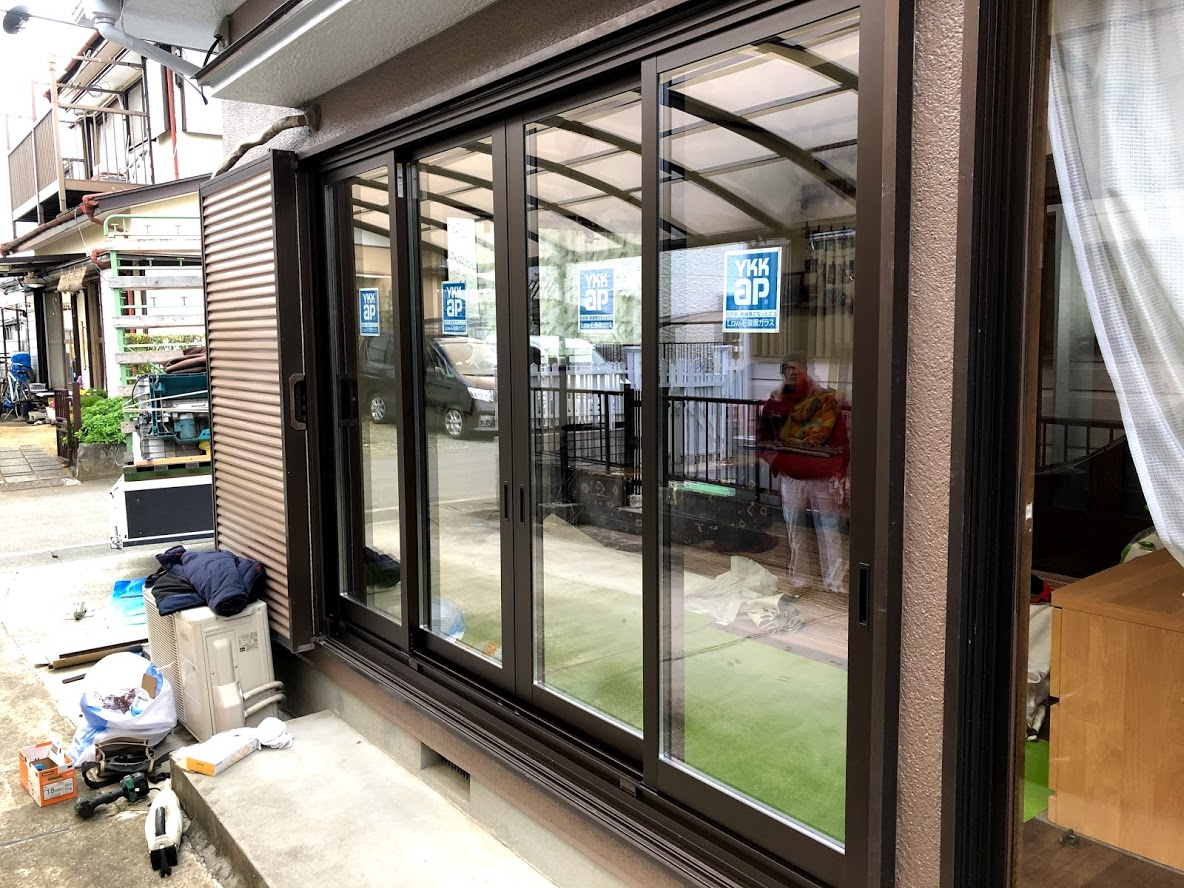 ガラス窓交換工事