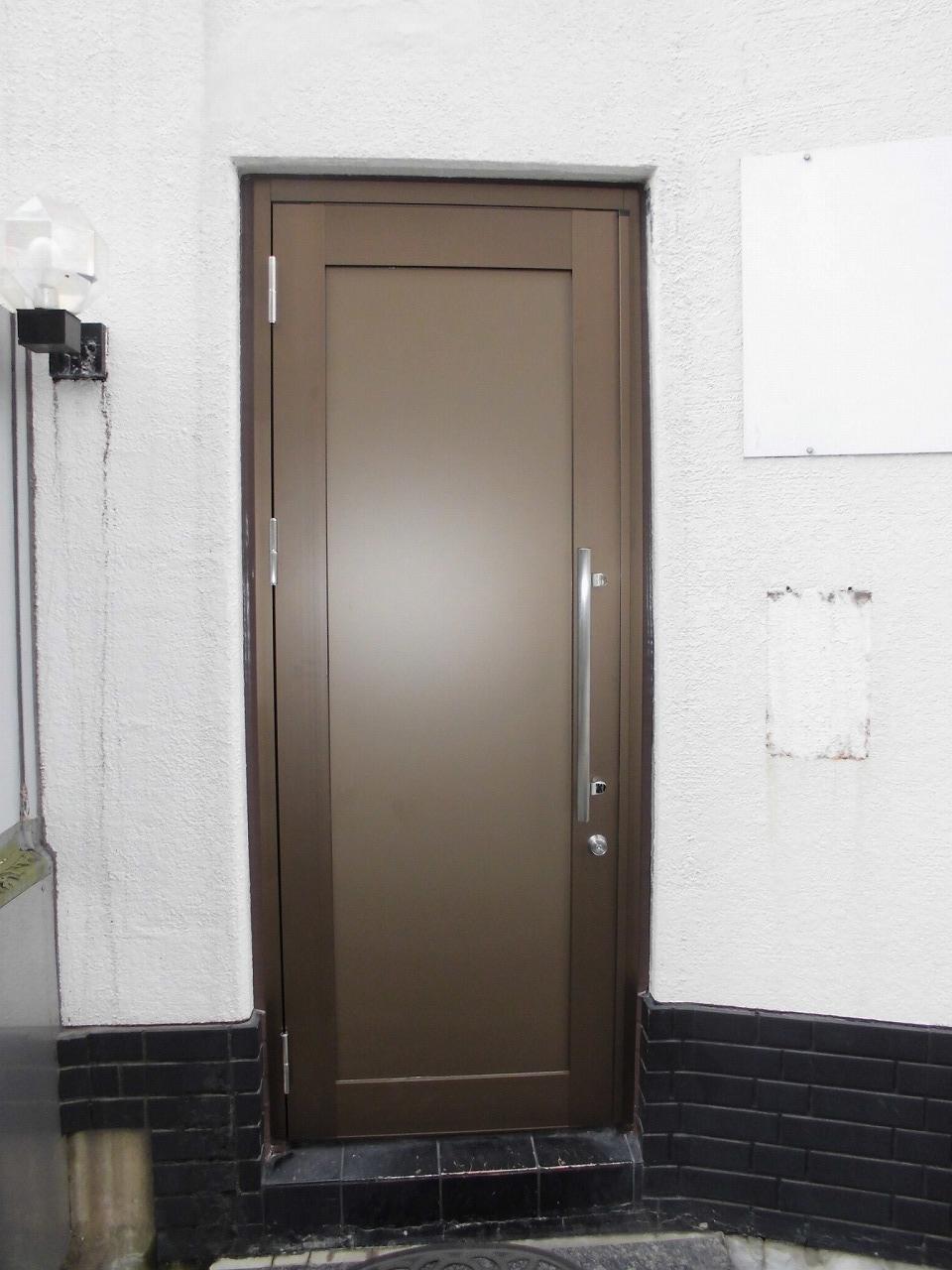 アルミ框ドア交換工事