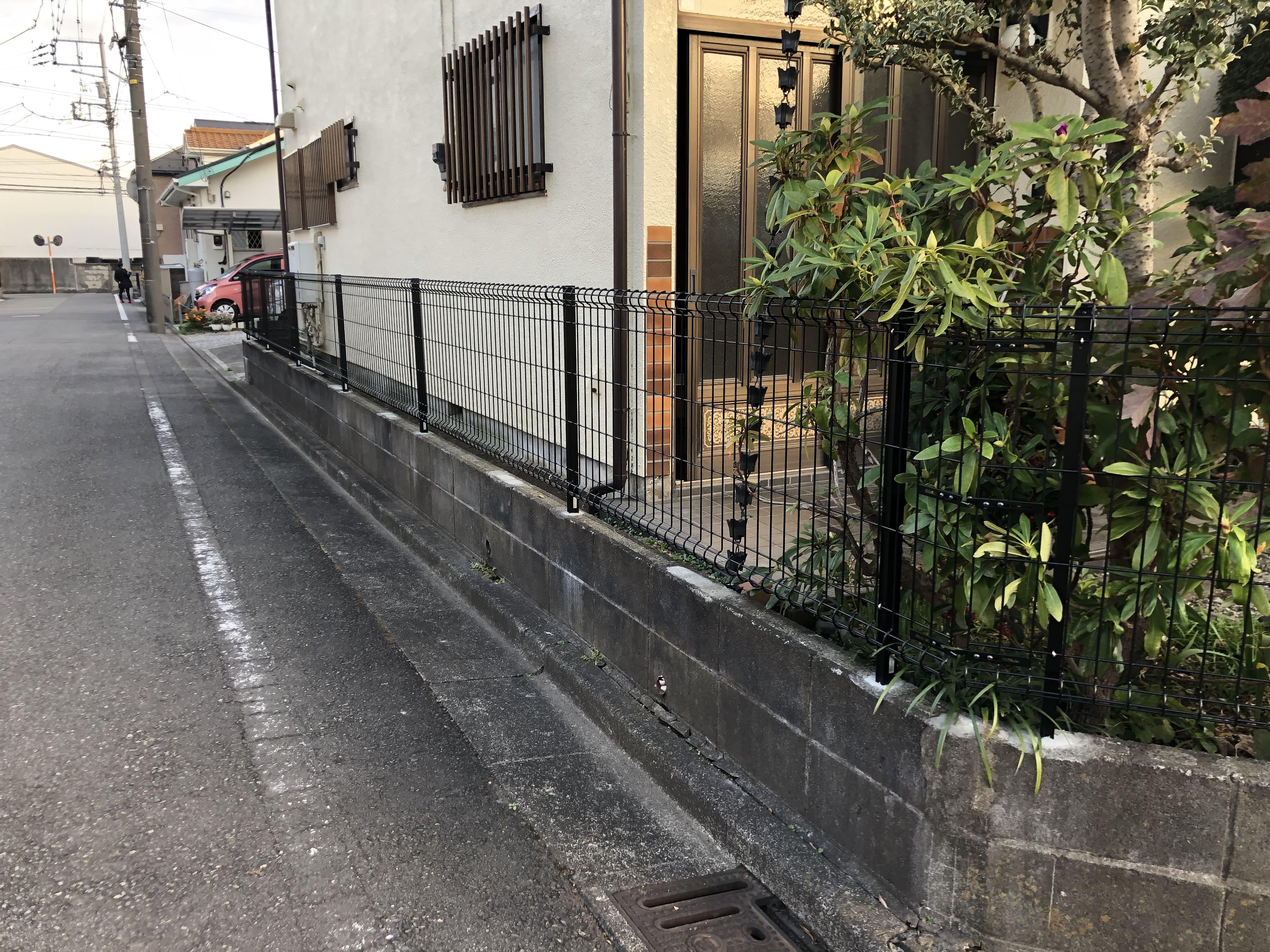 フェンスの交換