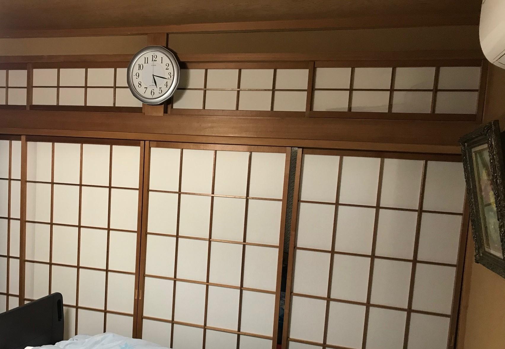 施工前 和室8帖寝室:和障子