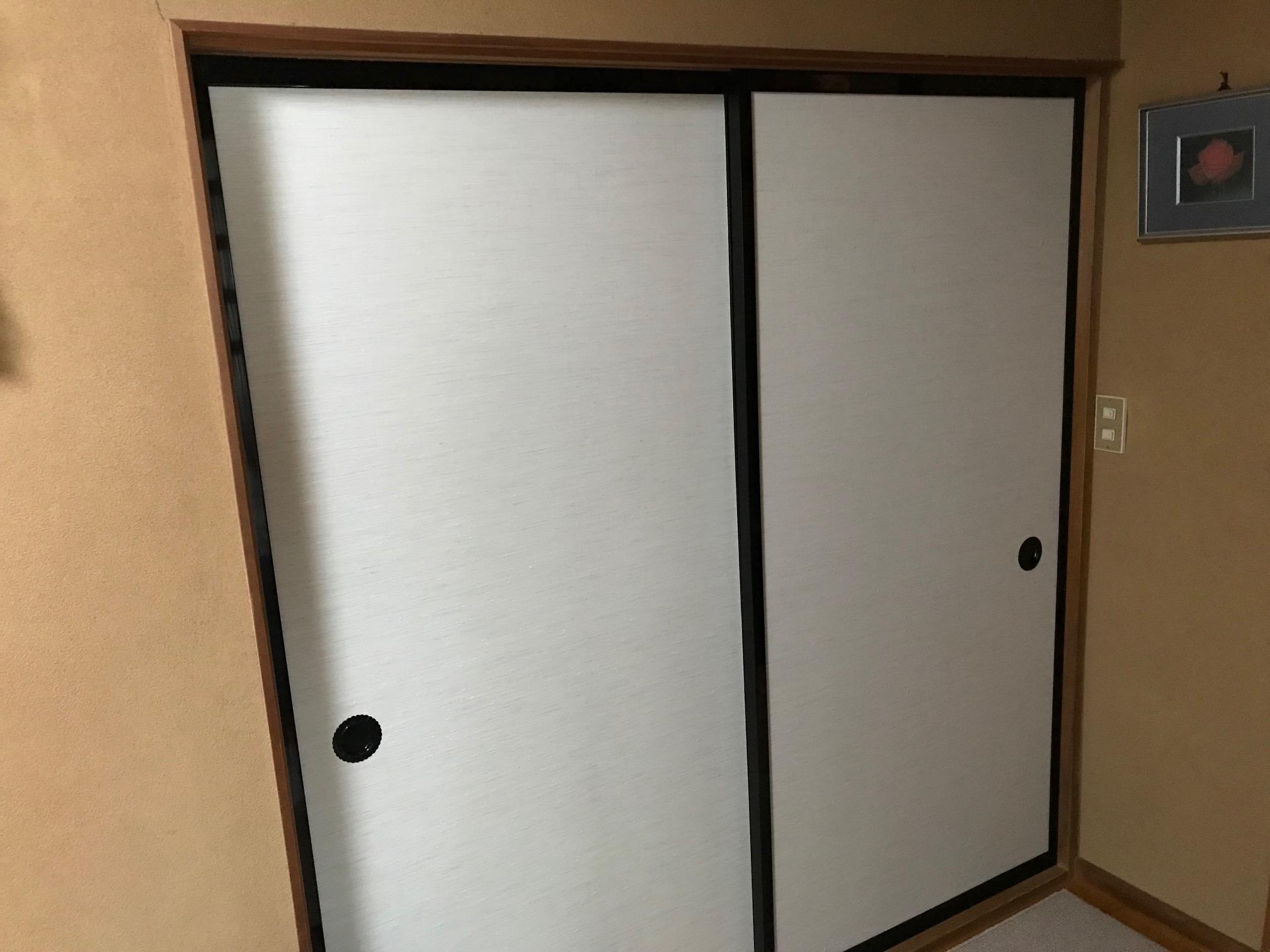 施工後 和室6帖:戸襖両面張り替え